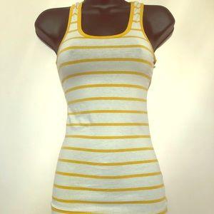 ⭐️⭐️5 for $7⭐️⭐️ Yellow White striped tank